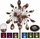 Solar Wind Spinner Multi Color LED Lighting by Solar Powered Glass Ball with Ki