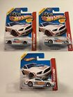 HOT WHEELS Lot of 3 13 Ford Mustang GT White Color 2013 ERROR VARIATIONS
