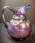 FENTON 2001 VIOLET CARNIVAL RIB OPTIC PITCHER Museum Collection Signed