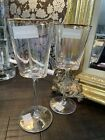 Two New David Tutera Gold Rimmed Heart Shaped Flutes Champagne Glasses