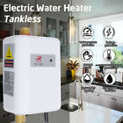3800W 110V Electric Tankless Instant Hot Water Heater Shower Kitchen Tap Faucet