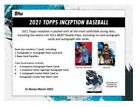 2021 TOPPS INCEPTION HOBBY BOX - 1 AUTO or AUTO RELIC per pack, 1 pack per box
