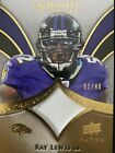 Ray Lewis 2009 UPPER DECK EXQUISITE PATCH 01 40 Card #P-RL RAVENS