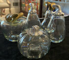 Vintage Handblown Clear Glass Fruit And Vegetables