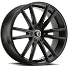 4 Kraze KR190 Luso 20x85 5x45 +38mm Gloss Black Wheels Rims 20 Inch