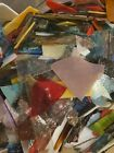 15 lbs of small dirty Scrap random blend mosaic stained glass FREE SHIPPING