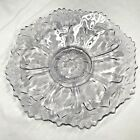Vintage Antique Clear Purple Glass Footed Serving Dish Victorian Art Deco Design