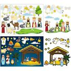 Outus 30 Sheets Make a Nativity Scene Stickers Assorted Christmas Mix and Mat