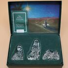 Box Set 3 Marquis Waterford Crystal Nativity Figures Shepherds and Flock 1998
