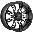 4 20 Inch Panther Offroad 580 20x9 8x65 8x170 +0mm Black Machined Wheels Rims