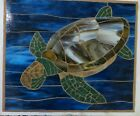 Handcrafted Art Glass Mosaic Turtle Wall Hanging Panel New