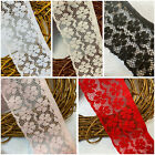 NEW 8cm Approx 3 Pretty Floral Design Nottingham Flat Lace Trim Sewing Craft