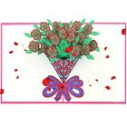 YMDZ Pop Up Roses cards 3D Greeting Cards Romance Valentines Day Props Birth