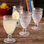 The Pioneer Woman Adeline 12 Ounce Footed Glass Goblets Party Clear Set of 4