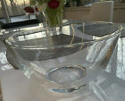 Signed Tiffany  Co Crystal Glass Large Round Bowl 10 W 5H PRISTINE
