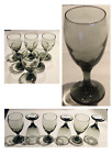 Gray Smoke Drinking Glass Goblets 16 oz Set of 6 NEW Made in USA