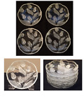 VINTAGE Mikasa Glass Salad Plates 7 NADINE Clear Frosted Tulips 4 Piece Set
