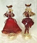 Vintage Pair Of Murano Venetian Art Glass Figurines