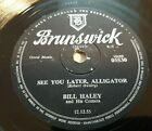 78rpm Bill Haley  His Comets  See You Later Alligator The Paper Boy VG+