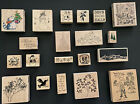 Lot Of 20 Scrapbooking CHRISTMAS Rubber Stamps PENNY BLACK HERO ARTS AND MORE