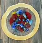 LARGE SIZE HAND BLOWN ROUND 18 INCHES DIAMETER VIZ GLASS CIRCLE TABLE WALL ART