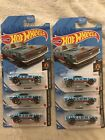 2021 HOT WHEELS 67 CAMARO DREAM GARAGE EXCLUSIVE BLUE PAINT LOT OF 6 CARS