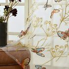 Window Sheer Curtain 2 Panels Butterfly Voile 54 x 72 Bedroom Living Room