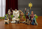 Nativity Figurines Set 11 Piece Frankincense And Myrrh 7 Inch Scale Real Gold