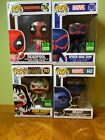 Marvel Funko Pop Lot - Exclusives - Spiderman, Deadpool, Morbius, Beast NEW