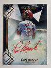 LOU BROCK CARDINALS 2020 TOPPS DIAMOND ICONS ON CARD AUTOGRAPH AUTO #08 10