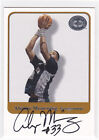 ALONZO MOURNING GEORGETOWN HOYAS 2001 FLEER GREATS OF GAME AUTOGRAPH AUTO CARD