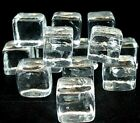 Vintage Handmade Glass Ice Cube Rocks Squares Clear Small 1 Mid Century Modern