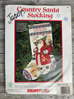 DIMENSIONS Country Santa 8461 Counted Cross Stitch Christmas Stocking Kit NEW