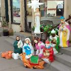 Blow Mold Nativity Set 14 pieces Large collection Christmas Church Religious