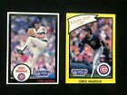 1990 Chicago Cubs Greg Maddux Starting Lineup Kenner Cards