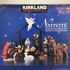 Kirkland Signature Large Porcelain Nativity Set Hand Painted 13 pcs Creche 75177