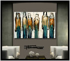 PAINTING ABSTRACT MODERN CANVAS WALL ART Large Framed Signed USA ELOISExxx
