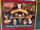 2002 Fisher Price Little People Deluxe Christmas Story Nativity Set Music Light