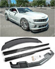 For 10 13 Camaro SS  EOS ZL1 Style Front Lip Side Skirts  Wickerbill Spoiler