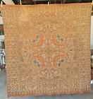 ANTIQUE WOVEN WALL TAPESTRY TABLE COVER 61 SQUARE