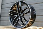 19X85 +35 5X112 RS STYLE GLOSS BLACK RIMS WHEELS FITS AUDI A4 A6 A7 S4 S5 RS5