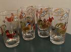 6 Hand Painted Rooster Chicken Country Farm Drinking Glasses 16 OZ