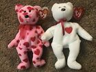 Valentines Day ty Beanie Babies Rare Brown Nose Valentino & Little Squeeze