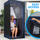 Portable Full Size Infrared Home Spa One Person Sauna With Heating Foot Pad