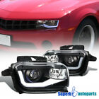For 2010 2013 Chevy Camaro LED Tube Replacement Projector Headlights Black Pair