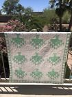 vtg handsewn Native American tribal motif wall or table cover quilt 55 x 41