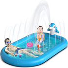 Inflatable Splash Pad Water Sprinkler Pool For Kids Toddlers Outdoor Small New