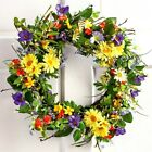 19Dia Daisy Greenery Flowers Twig Door Wall Wreath Hanging Spring Floral Decor