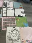 Harry Potter Frozen Christmas Scrapbook Pages Die Cuts  3D Pages Lot Of 15