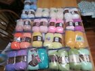 Lot of 33 skeins Lion Brand Baby Soft acrylic yarn in multiple colors